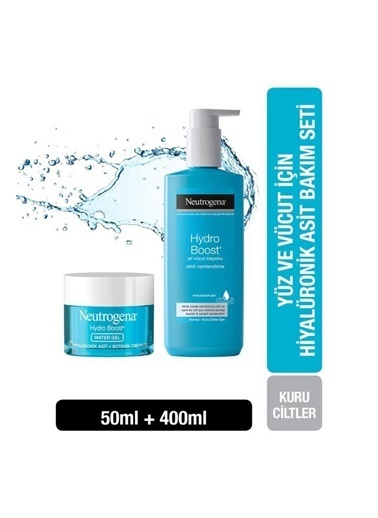 Neutrogena Hydro Boost Water Gel 50 Ml+Jel Vücut Losyonu 400 Ml Renksiz